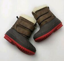 Cat & Jack Little Boy Barkley Winter Boots Size 4 Toddler