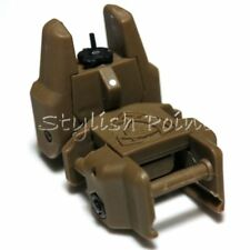 Airsoft Aps Abs Polymer Rhino Auxiliary Flip Up Front Sight Dark Earth