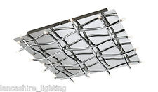 37985/11/10 Stylish Modern Polished Chrome Ceiling Flush Light 16x10w = 160w