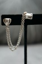 NEW Uno de 50 Stamped Silver Pierced Chain Earring NYOTA Cartilage Ear Cuff Clip