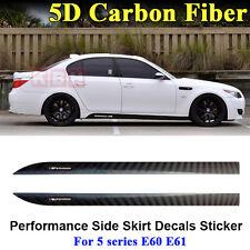 M Performance Side Skirt Stripe 5D Carbon Fiber Sticker for BMW 5 Series E60 E61
