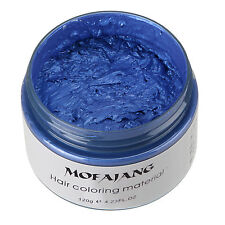 DIY Unisex Hair Color Wax Mud Dye Cream Temporary Modeling Fashion7 Colors Blue
