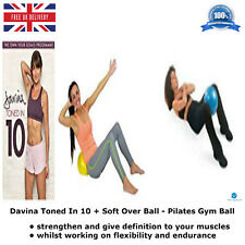Davina Toned In 10 + Soft Over Ball - Pilates Gym Ball working on flexibility