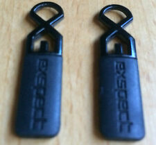 2 x Replacement Zipper Pulls with Metal Eyelets to Repair Zip Puller