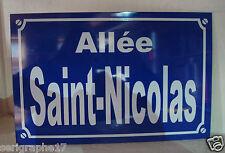 Réplique Plaque de rue St NICOLAS  saint nicolas  noel     20  x 30 cm neuf ALU