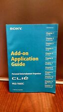 Sony Clie Peg-T665C Add-on Application Guide Manual Book