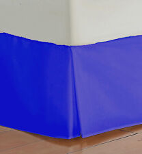 "Mayfield Tailored Bed Skirt 14"" Drop Royal Blue Full Mattress Size Made in USA"