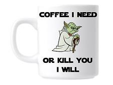 Funny Star wars coffee mug gift cup Yoda
