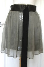 Bailey44 Anthropologie Olive Green Silk Sequend Skirt~SZ-L~Made inUSA~Beautiful~