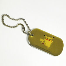 Pokemon Pikachu Gold Dog Tag ID Keychain Nintendo 1998 #25 Gotta Catch Em All