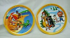 "Vintage Set Of 2 Ronald McDonald 1977 Seasons Plates 10"" Melamine"
