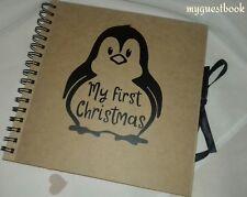 Vinilo Decorado libro de chatarra álbum de fotos-Mi 1st Navidad-Regalo Recuerdo