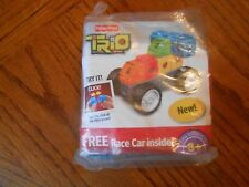 Fisher Price Trio Race Car Vehicle 6 Pieces in Mint Condition Ages 3+