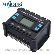 60 Amp 12/24 Volt Auto Detect PWM Digital Solar Panel Charge Controller with LCD