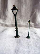 2 lampadaires en plomb pour dioramas