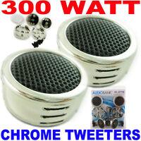 New 300 Watt Chrome Car Stereo Component Dome Tweeters Truck Audio Speakers