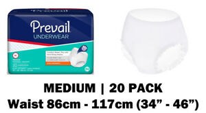 Prevail Medium Disposable Incontinence Pull Up Pants, 20 incontinence pants