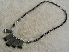 Hemetite Stone Scoop Necklace (C19)