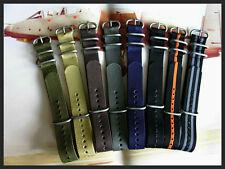 24mm Black NATO G10 ® UTC Heavy Nylon stitched Army Military watchband IW SUISSE