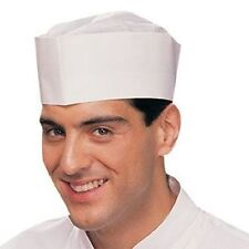 100 FORAGE HATS WHITE DISPOSABLE CHEF HAT ADJUSTABLE ONE SIZE FITS ALL