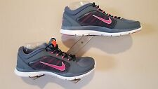 Nike Womens Shoes Flex Trainer 4 Grey w/Pink - Size 8