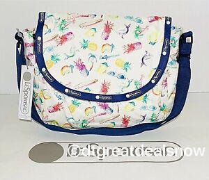 NEW LeSportsac Colette Expandable Messenger Bag in Paradise Colada B003 X116
