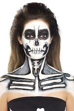de látex para Halloween Huesos esqueleto Efectos Especiales maquillaje disfraz