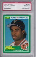 VINTAGE 1989 Deion Sanders Rookie Card #246 PSA 9 Mint The Score Falcons Footbal