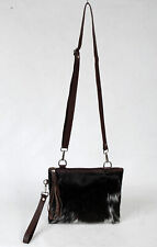 Real Cowhide Cross body Purse Handbag & Hand Clutch  Cow Hide Leather  SA-6650