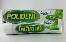 POLIDENT Fresh Mint Denture Adhesive Cream Glue Comfort Reduce Gum irritation
