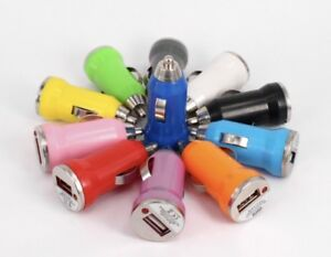 Lot 10 x Color Mini USB Car Charger Adapter for iPhone 6 5S 5 4S 4 LG Samsung