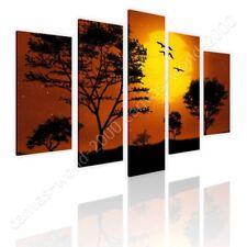 Digital Art Africa by Split 5 Panels   Ready to Hang Canvas   5 Panels Wall art
