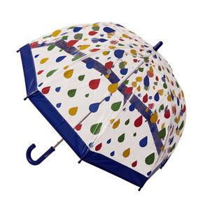 Children's Clear Birdcage Umbrella Raindrops