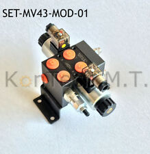 SET: 1x Modular / Hydraulik Magnetventil 4/3-Wege 12 DC - inkl. Stecker und DBV
