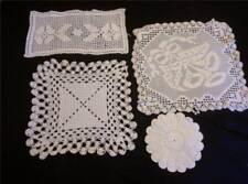 4 Pcs. Vintage Crochet Doilies Hot Pad Runner Under Vase Centerpiece Various
