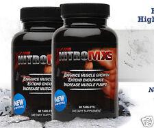 Nitro MXS - Nitric Oxide NO - Muscle Mass BIG POWER Pumps Endurance Growth 90 ct