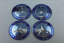 4X Wheel Center Hub Cap Sticker for Mercedes Benz 65mm Blk Car Emblem Badge BLU
