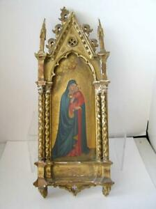 19th Century Madonna of the Stars by Fra Angelico Italian Icon Altar Painting