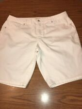 Coldwater Creek White Jeans Shorts Size 18