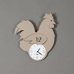 Orologio da cucina parete moderno gallina Mod. Chioccia design  Arti e Mestieri
