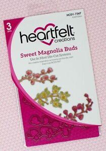 Heartfelt Creations Cut & Emboss Dies-Sweet Magnolia Buds
