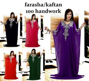 Dubai Style Women Kaftan Caftan Farasha Abaya Maxi Dress Kimono Beach Cover Up H