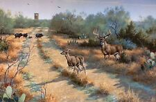 Hot Pursuit  David Drinkard Giclee on Canvas Whitetail Deer Hunting