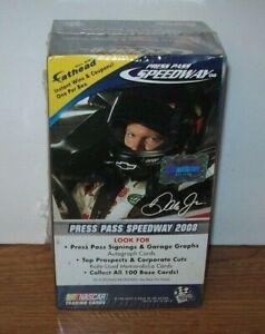 2008 PRESS PASS RACING SPEEDWAY BLASTER BOX 4 PACKS