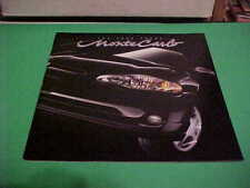 2002 CHEVY CHEVROLET MONTE CARLO AUTO DEALER BROCHURE EXCELLENT