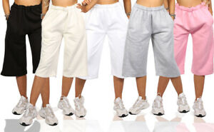 Ladies 3/4 Length Cropped Trousers Womens Shorts UK Size 8 10 12 14 16 18