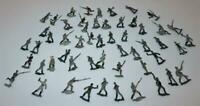 Vintage Lot of 54 Painted Flat Tin Soldiers Military War Group, 1 1/2""