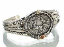 SeidenGang Solid 925 Sterling Silver & 18K Gold Cuff Bracelet '