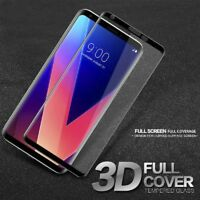 3D Curved Full Screen Coverage Tempered Glass Screen Protector For LG V30 Newly