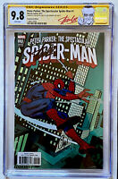 PETER PARKER SPECTACULAR SPIDER-MAN #1 CGC 9.8 SS SIGNED STAN LEE  1:500 VARIANT